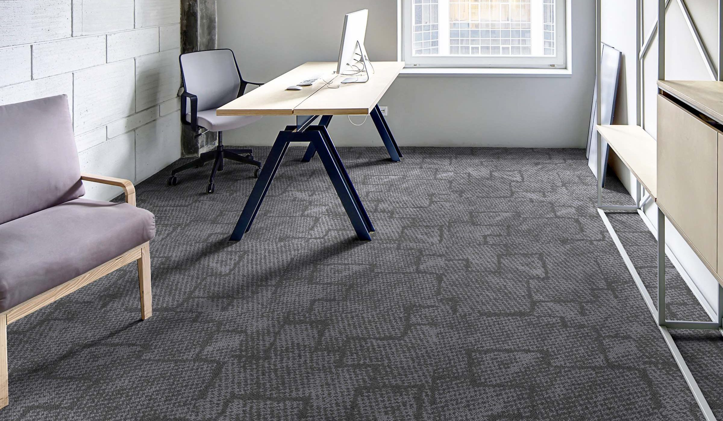 Inspiration Collection | Mesh Sonic Coal | Paragon Carpet Tiles | Commercial Carpet Tiles | Design Carpet Tiles