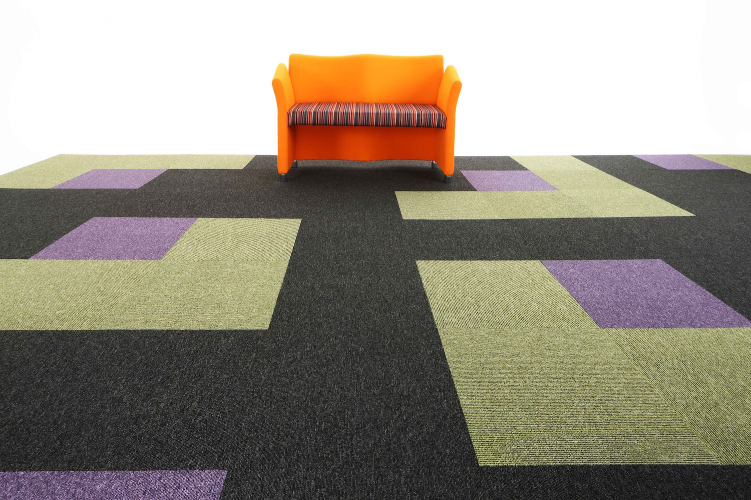 Paragon Carpet Tiles | Commercial Carpets | Macaw Stripe