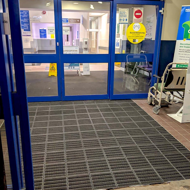 MatWorks Entrance Solutions | North Manchester General Hospital | Treadloc 25