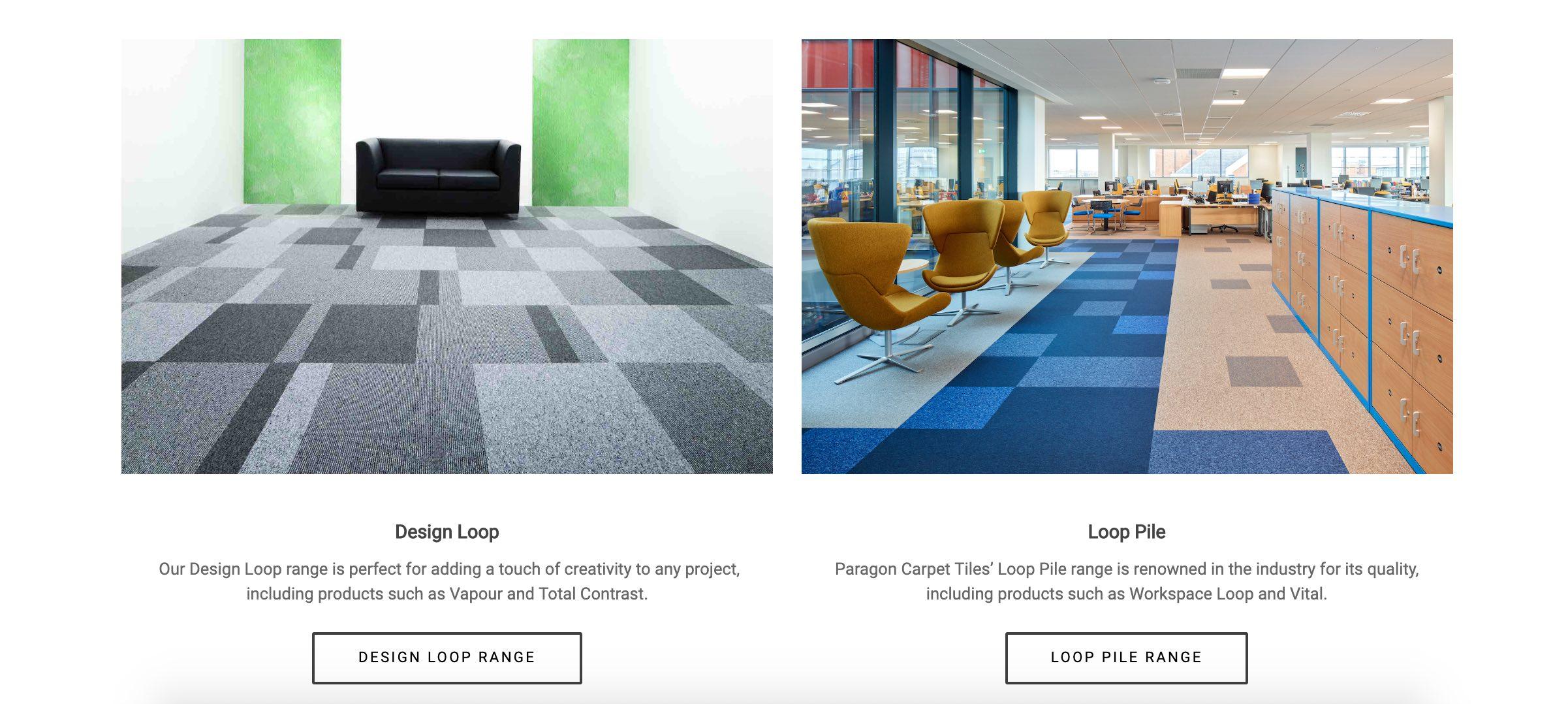 Paragon Carpet Tiles | Commercial Carpet Tiles | A New Look Website
