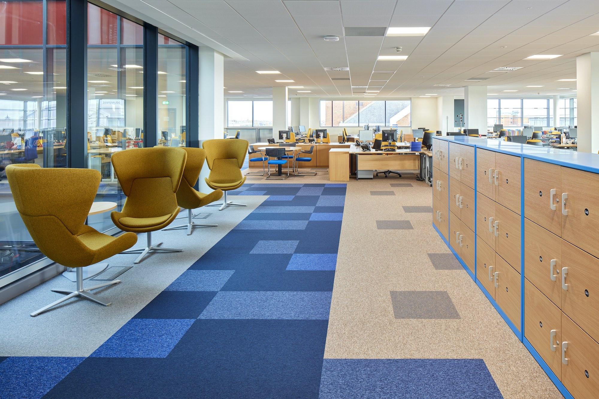 Paragon Carpet Tiles | Social Distancing | Commercial Carpet Tiles | Toccarre