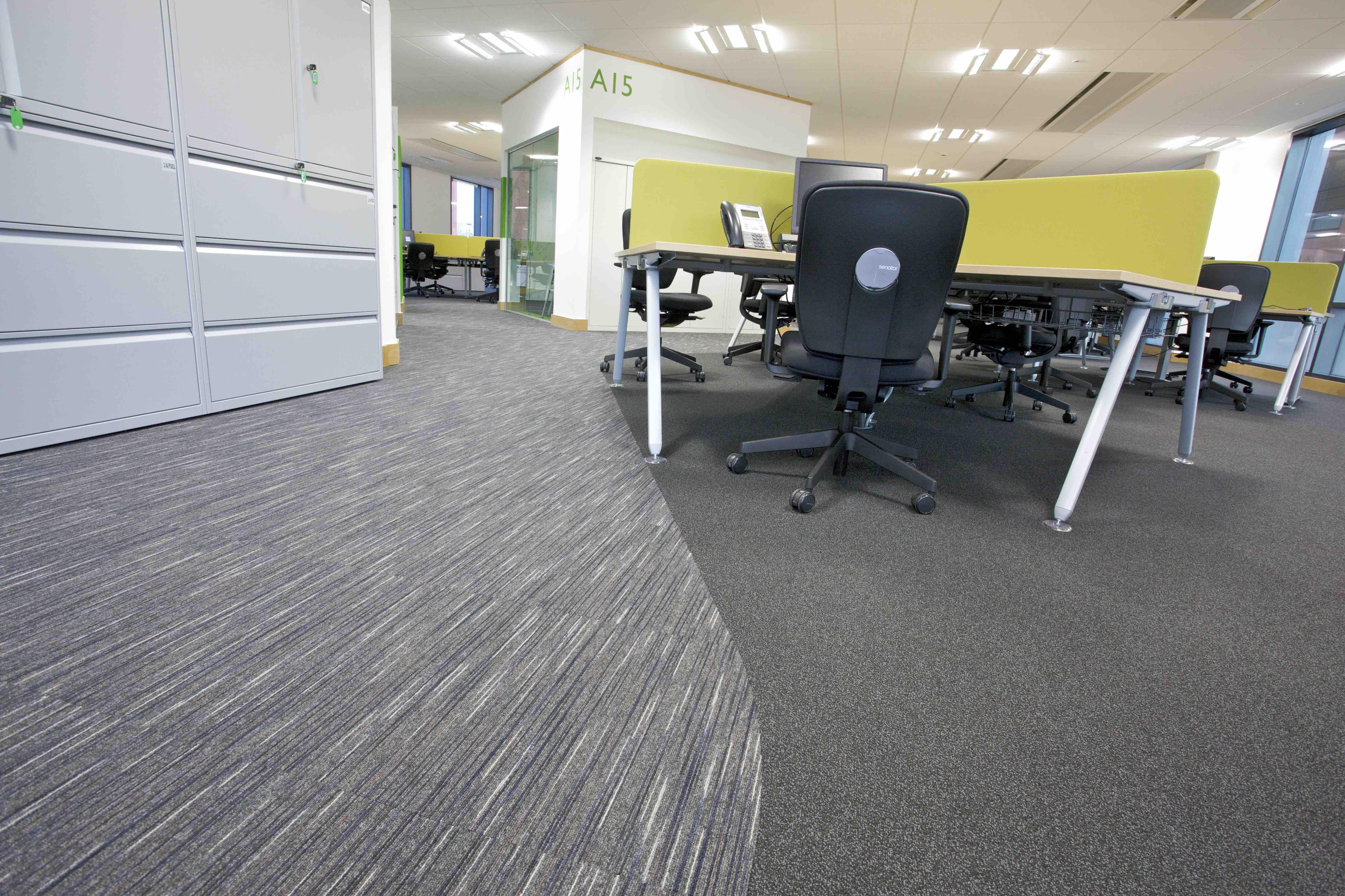 Paragon Carpet Tiles | Social Distancing | Commercial Carpet Tiles | Workspace Loop and Strobe