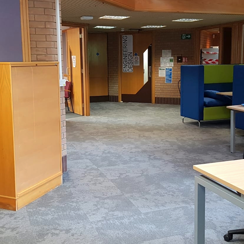 Powys Council - Vapour - Paragon Carpet Tiles - Commercial Carpet Tiles