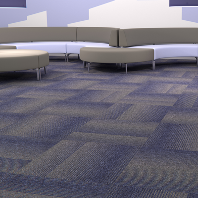 diversity groove carpet tile random lay