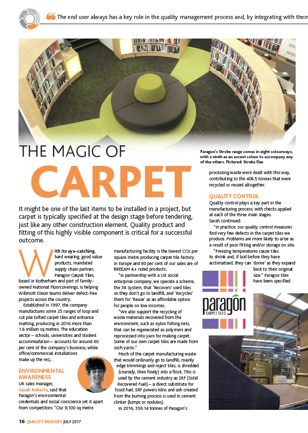 willmott dixon says yes to paragon carpets
